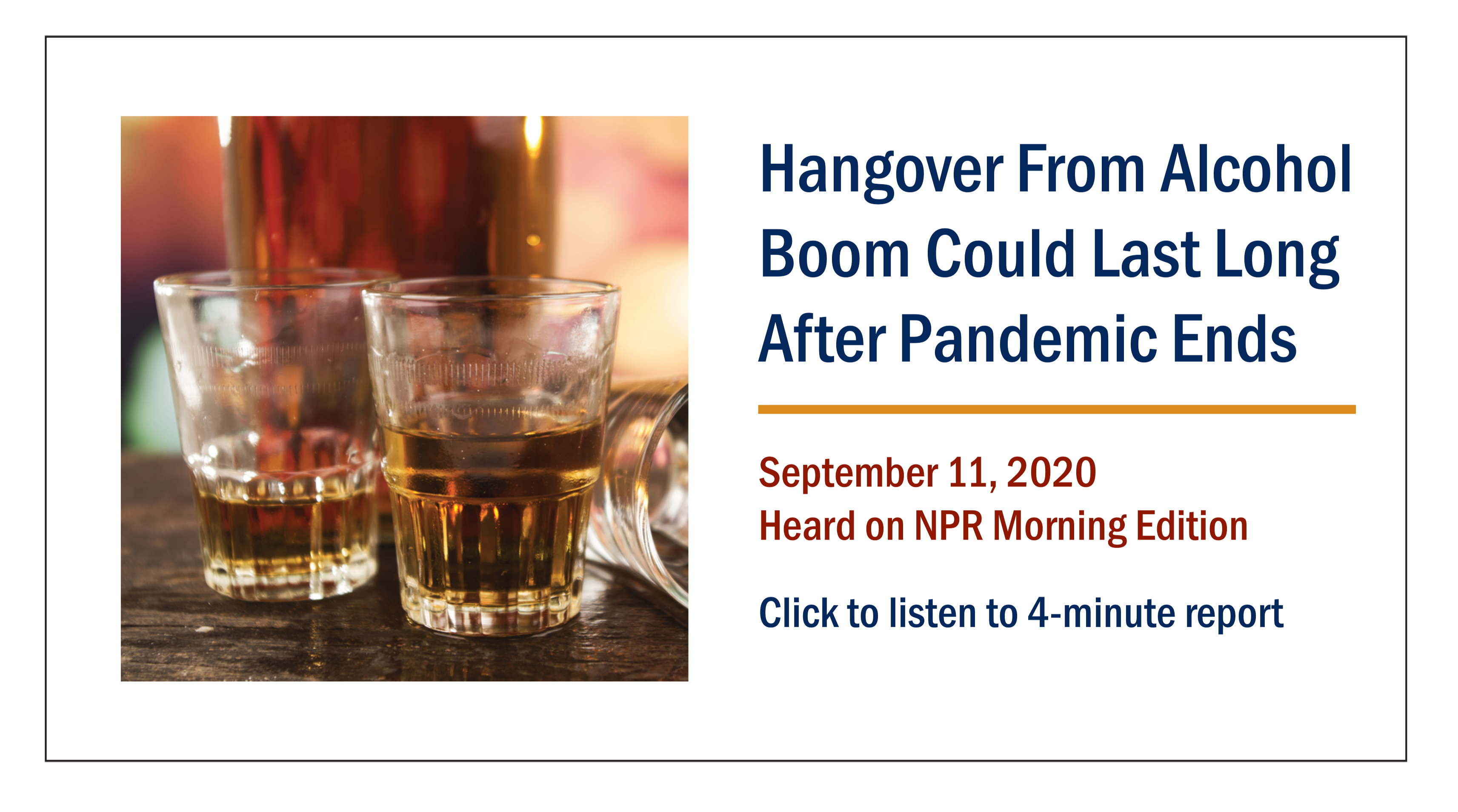Hangover from alcohol could last long after the pandemic ends.